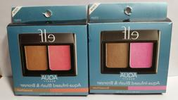 ELF Aqua Blush & Bronzer Your Choice of  Bronzed Violet OR B