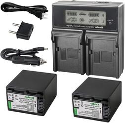 Kastar LCD Dual Smart Fast Charger  2 x Battery for Sony NP-