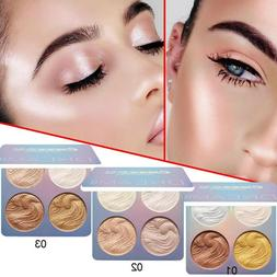 Professional New Makeup Face Powder 4 Colors Bronzer Highlig